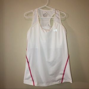3/$15! Under Armour White Tank with Sports Bra